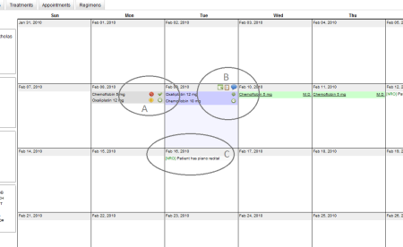 Screenshot of the Ankhos calendar